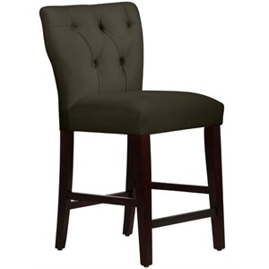 MER-1396 Tufted Bar Stool in Pewter