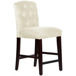 MER-1396 Tufted Bar Stool in Antique White