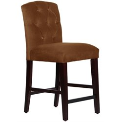 MER-1396 Tufted Bar Stool in Chocolate