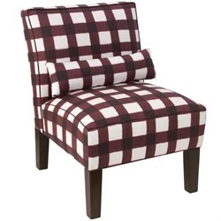 Pemberly Row Accent Chair in Buffalo Square Holiday Red