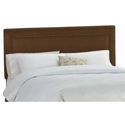 MER-1396 Upholstered Panel Headboard in Chocolate
