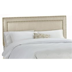 MER-1396 Upholstered Panel Headboard in Oatmeal