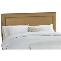 MER-1396 Upholstered Panel Headboard in Saddle