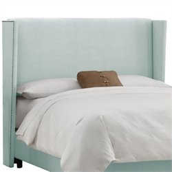 MER-1396 Upholstered Wingback Panel Headboard in Pool