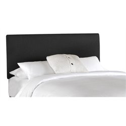 MER-1396 Upholstered Panel Headboard in Black 1