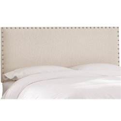MER-1396 Upholstered Panel Headboard in White 2