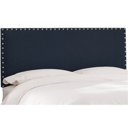 MER-1396 Upholstered Panel Headboard in Navy 1