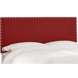 MER-1396 Upholstered Panel Headboard in Red