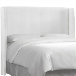 MER-1396 Upholstered Wingback Panel Headboard in White
