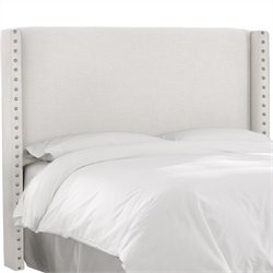 MER-1396 Upholstered Panel Headboard in White 3