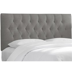 MER-1396 Upholstered Tufted Panel Headboard in Gray