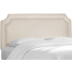 MER-1396 Upholstered Panel Headboard in Ivory