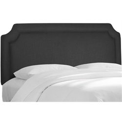 MER-1396 Upholstered Panel Headboard in Black 2