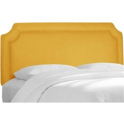 MER-1396 Upholstered Panel Headboard in Yellow
