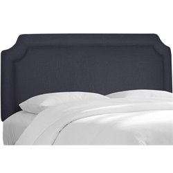 MER-1396 Upholstered Panel Headboard in Navy 2