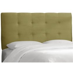 MER-1396 Upholstered Tufted Panel Headboard in Sage