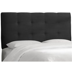 MER-1396 Upholstered Tufted Panel Headboard in Black 1