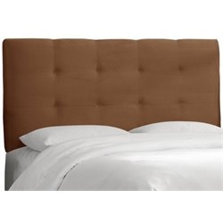 MER-1396 Upholstered Tufted Panel Headboard in Chocolate