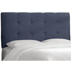 MER-1396 Upholstered Tufted Panel Headboard in Blue 1