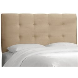 MER-1396 Upholstered Tufted Panel Headboard in Oatmeal