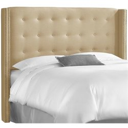 MER-1396 Upholstered Tufted Panel Headboard in Sandstone