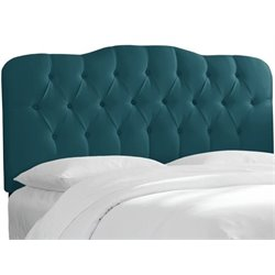 MER-1396 Upholstered Tufted Panel Headboard in Peacock