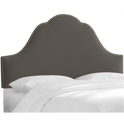 MER-1396 Upholstered Panel Headboard in Charcoal 1