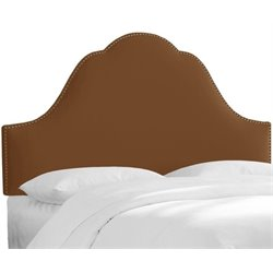MER-1396 Upholstered Panel Headboard in Chocolate 3