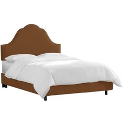 MER-1396 Upholstered Panel Bed in Chocolate 5