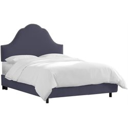 MER-1396 Upholstered Panel Bed in Lazuli Blue 1