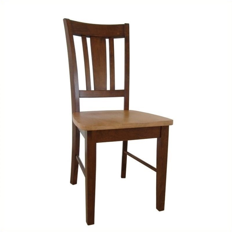 Pemberly Row Slat Dining Chair in Espresso (Set of 2)