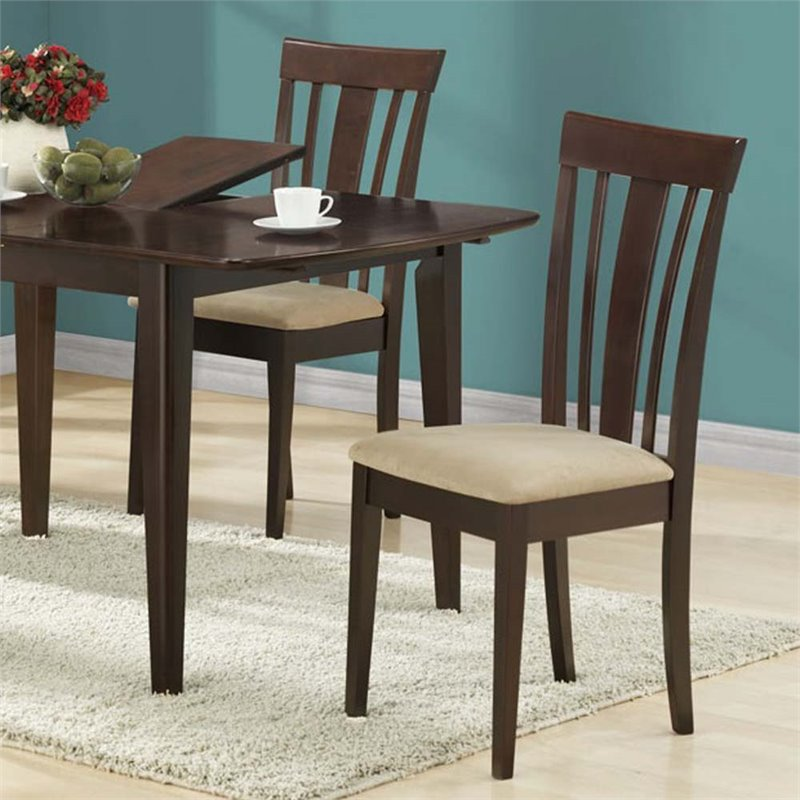 Pemberly Row Dining Chair in Cappuccino (Set of 2)