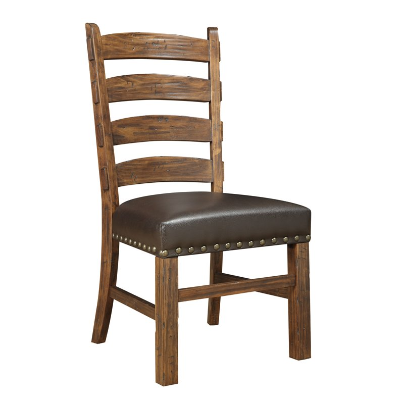 Pemberly Row Aldgate Ladder Back Dining Side Chair (Set of 2)