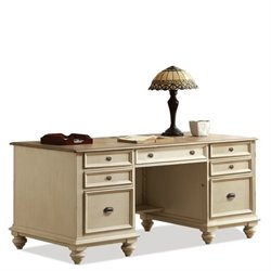 Beaumont Lane Two Tone Executive Desk in Dover White