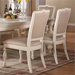 Beaumont Lane Upholstered Dining Chair in Honeysuckle White