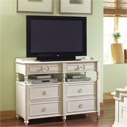 Beaumont Lane Media Chest in Honeysuckle White