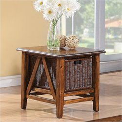 Beaumont Lane Rectangular End Table in Toffee