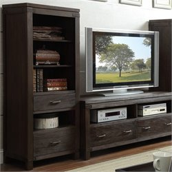 Beaumont Lane Etagere Bookcase Pier in Warm Cocoa