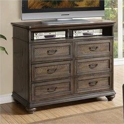 Beaumont Lane Entertainment Media Chest in Old World Oak