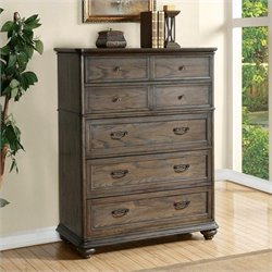 Beaumont Lane Five Drawer Chest in Old World Oak