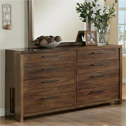 Beaumont Lane Eight Drawer Dresser in Casual Walnut