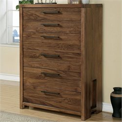 Beaumont Lane Six Drawer Chest in Casual Walnut