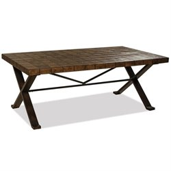 Beaumont Lane Stone Top Coffee Table in Walnut Travertine