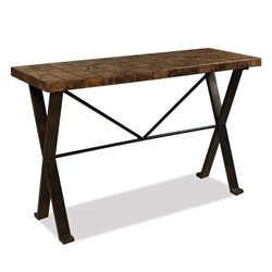 Beaumont Lane Stone Top Sofa Table in Walnut Travertine
