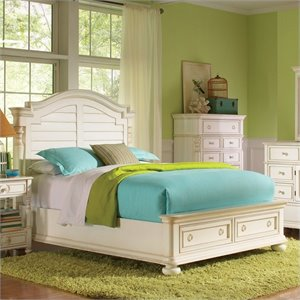Beaumont Lane King Arch Storage Bed in Honeysuckle White