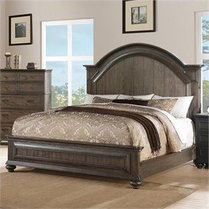 Beaumont Lane King Panel Bed in Old World Oak