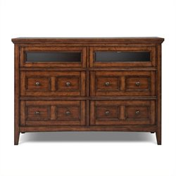 Beaumont Lane Wood Media Chest in Cherry