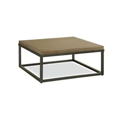 Beaumont Lane Square Coffee Table in Brownstone