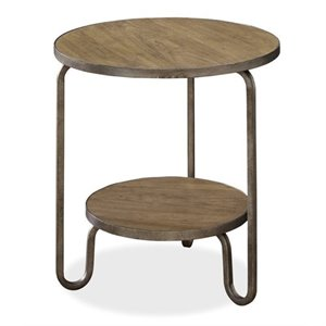 Beaumont Lane Round End Table in Bisque