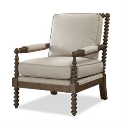 Beaumont Lane Upholstered Soho Accent Chair in Linen